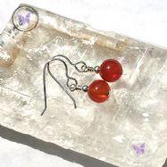 Classical Carnelian Silver Earrings